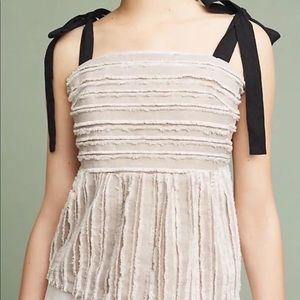 NWT Maeve Soeli Ribbon Tie Top Anthropologie XL